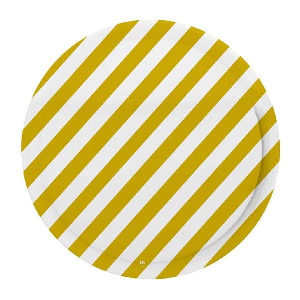 Tác Stripes Mustard