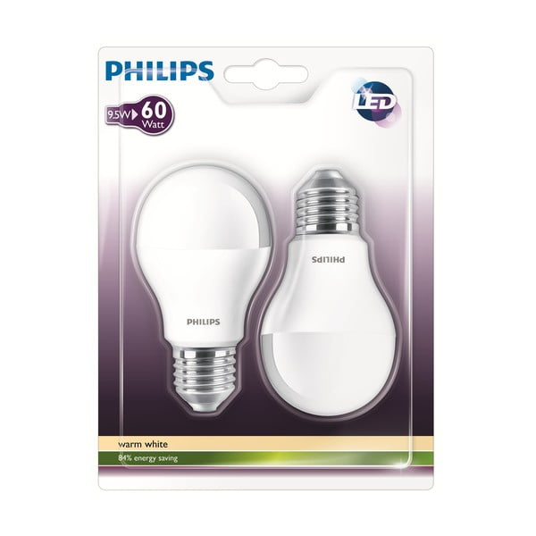 LED žárovka Philips 60W E27 WW 230V A60 FR (2 ks)