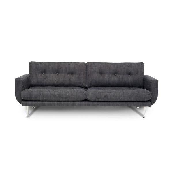 Antracytowa sofa 3-osobowa Softnord Fly