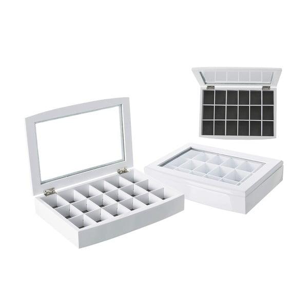 Šperkovnice Unimasa White Glass