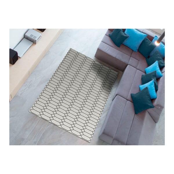 Černý koberec Universal Norway Blanco,140x200cm