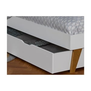 Bílá zásuvka k posteli JUNIOR Provence Oskar Junior