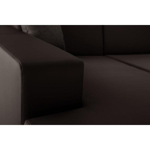 Hnědá sedačka Interieur De Famille Paris Tresor, levý roh