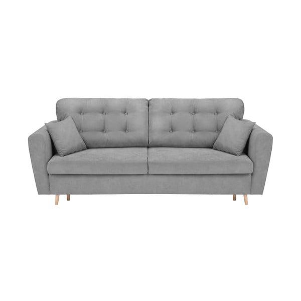 Grenoble szürke háromszemélyes kinyitható kanapé tárolóhellyel - Cosmopolitan Design