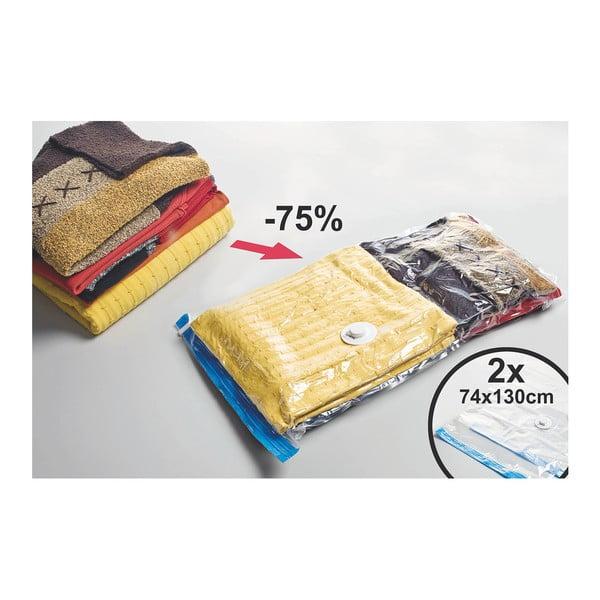 Sada 2 vakuových pytlů na oblečení JOCCA Bags, 130x74cm