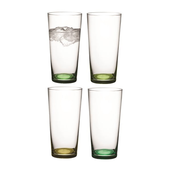 Coro Green, vysoká sklenice, sada 4 ks