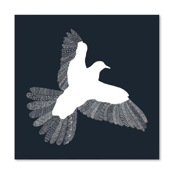 Plakát Bird Blue od Florenta Bodart, 30x30 cm