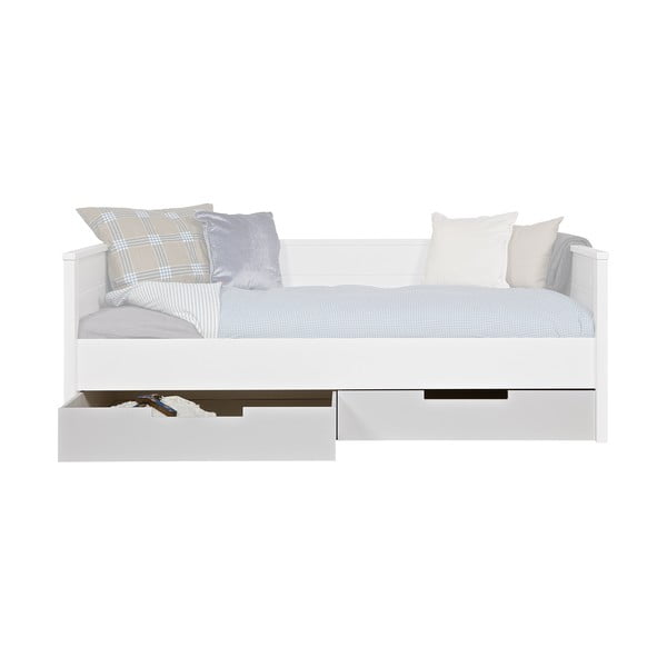 Biela zásuvka pod posteľ WOOOD Jade