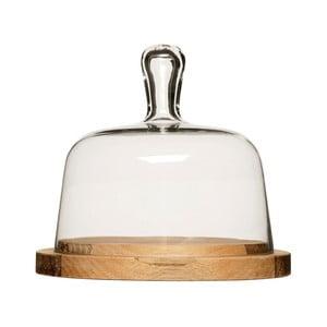 Prkénko na sýr se skleněným poklopem Sagaform Oval