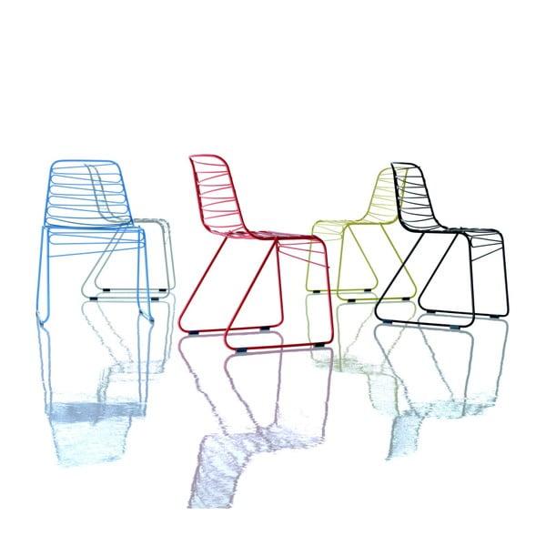 Červená stohovatelná židle Magis Flux