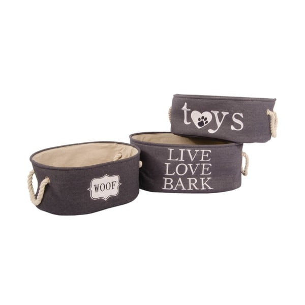 Sada 3 košíků Live Love Bark
