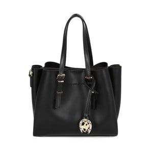 Černá kabelka z eko kůže Beverly Hills Polo Club Alicia