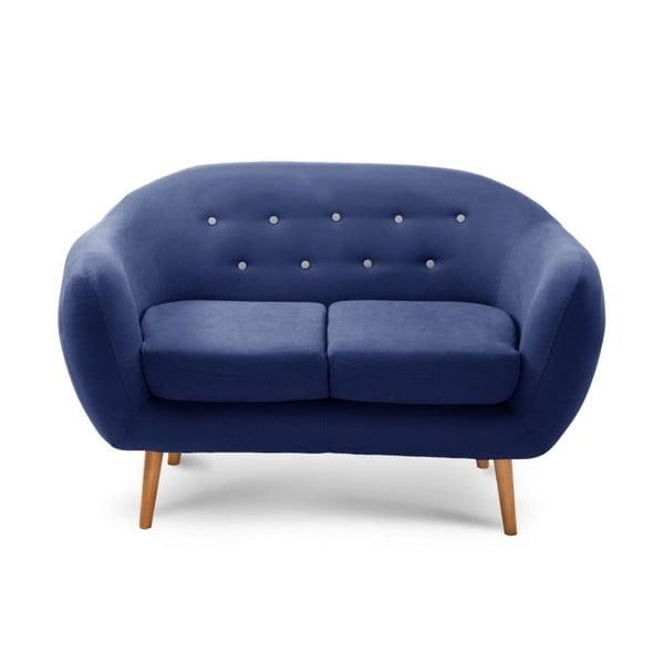 Námořnicky modrá dvoumístná sedačka Scandi by Stella Cadente Maison Constellation