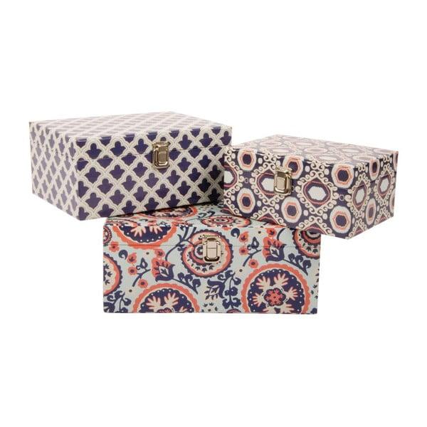 Sada 3 úložných krabiček Fashion