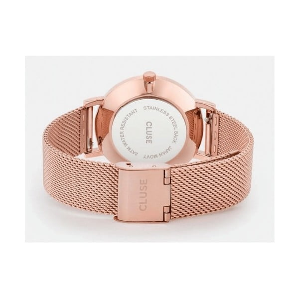 Dámské hodinky v barvě růžového zlata Cluse Pavane