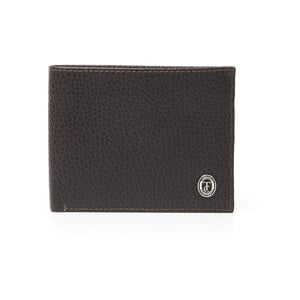 Hnědá pánská kožená peněženka Trussardi Royal, 12,5 x 9,5 cm