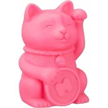 Lampă de veghe Just Mustard Lucky Cat, roz imagine