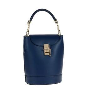 Modrá kožená kabelka / batoh Tina Panicucci Slimo
