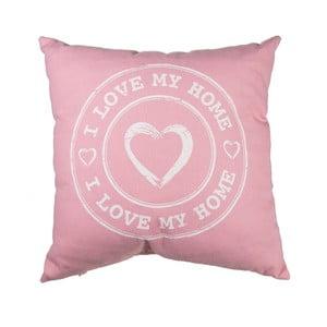 Růžový polštář Out of the Blue I Love My Home, 40x40cm