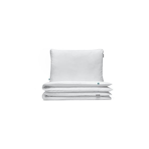 Bílé bavlněné povlečení na jednolůžko Mumla, 140x200cm