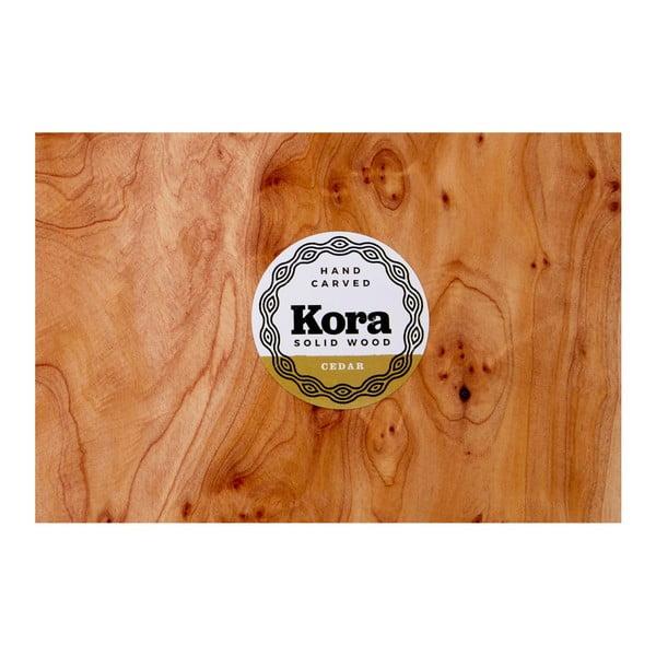 Servírovací tác z cedrového dřeva Premier Housewares Kora, 30 x 40 cm