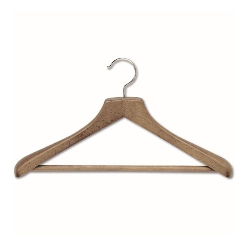 Ramínko na kabáty s kalhotovou tyčí z bukového dřeva Cosatto Mokko