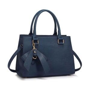 Tmavě modrá kabelka z eko kůže L&S Bags Bowcharm