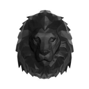 Matně černý nástěnný věšák PT LIVING Origami Lion