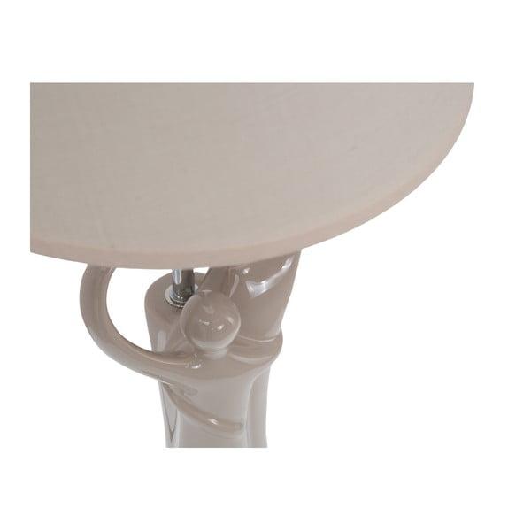 Béžová stolní keramická lampa Mauro Ferretti La Batte, 59cm
