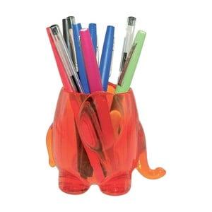 Oranžový stojan na tužky Incidence Elephant