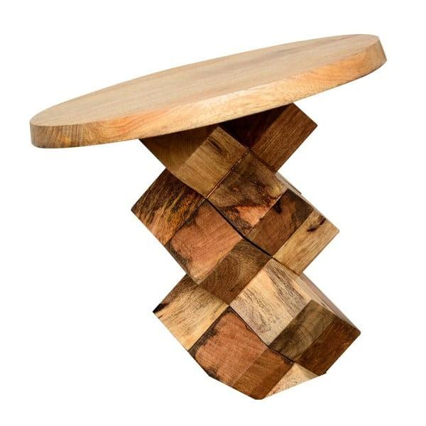 Příruční stolek z mangového dřeva Støraa Ashland,Ø40cm