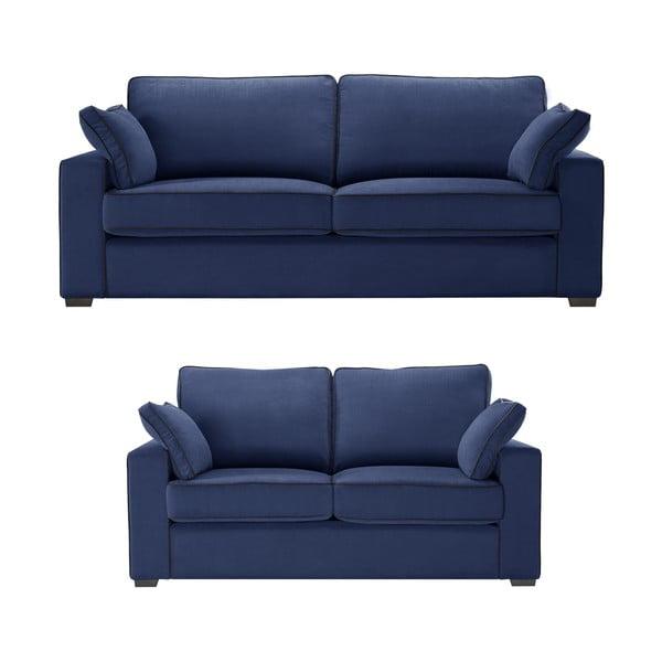 Dvoudílná sedací souprava Jalouse Maison Serena, tmavě modrá