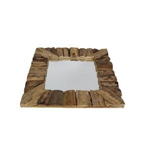 Nástěnné zrcadlo z teakového dřeva HSM Collection Nature, 60x60cm
