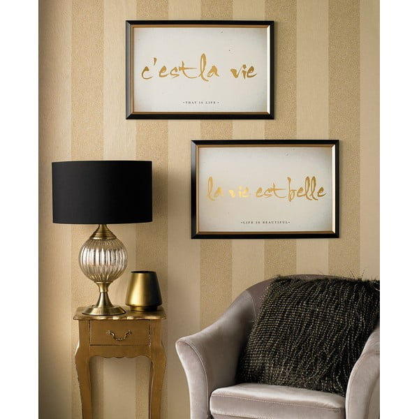 Tablou cu ramă Graham & Brown La Vie, 60 x 40 cm