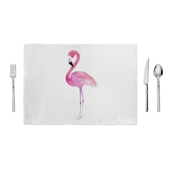 Standing Flamingo tányéralátét, 35 x 49cm - Home de Bleu
