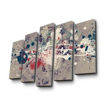 Tablou pe pânză din 5 piese Abstraction