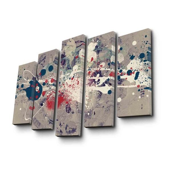 5dílný nástěnný obraz na plátně Abstraction