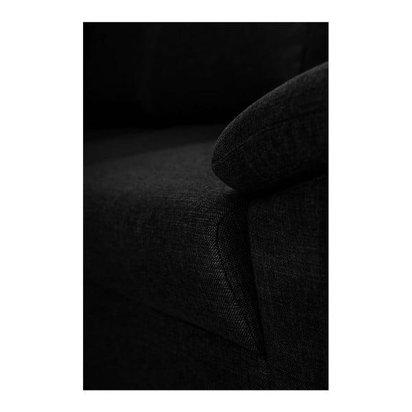 Černá pohovka Florenzzi Savasta, levý roh