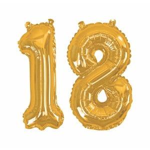 Balónek s číslem 18 Neviti Gold
