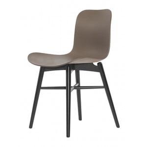 Hnědá jídelní židle NORR11 Langue Dark