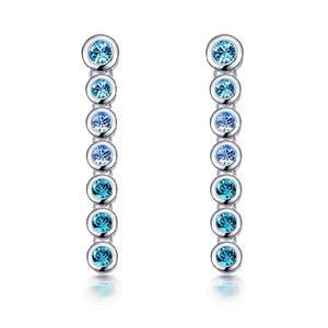 Náušnice s modrými krystaly Swarovski Elements Crystals Drops