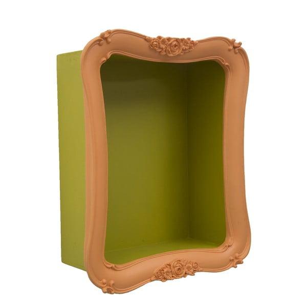 Oranžová police se zelenými detaily Mauro Ferretti Arancio Simple