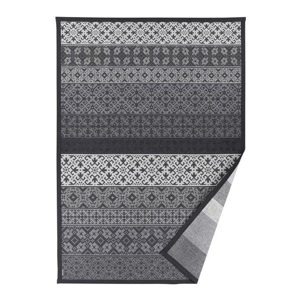 Tidriku szürke, mintás kétoldalú szőnyeg, 70 x 140 cm - Narma