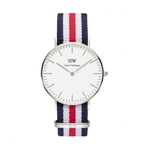 Dámské modro-bílo-červené hodinky Daniel Wellington Walford
