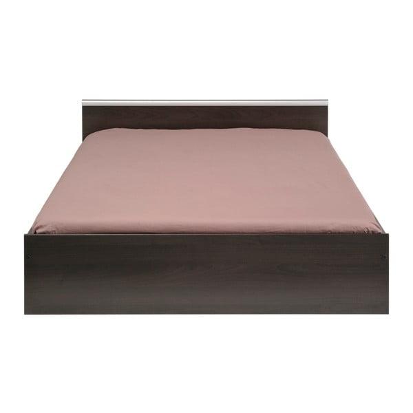 Hnědá dvoulůžková postel se 2 zásuvkami Parisot Arlette, 140x200cm