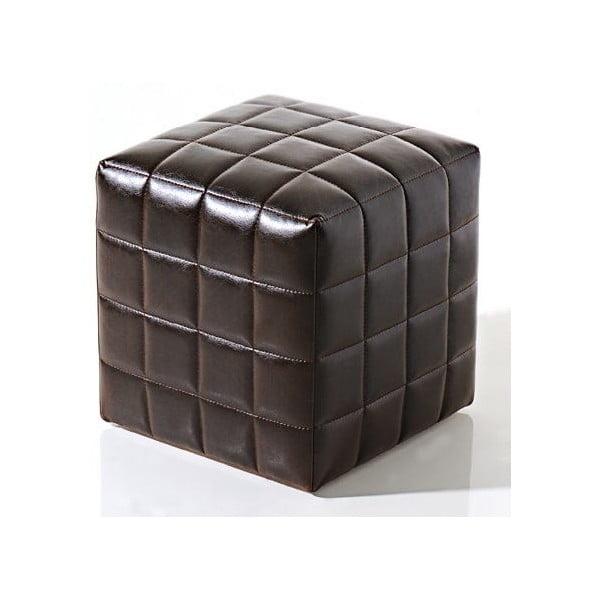 Sedací puf Bakero Squares z veganské kůže, 40x40 cm