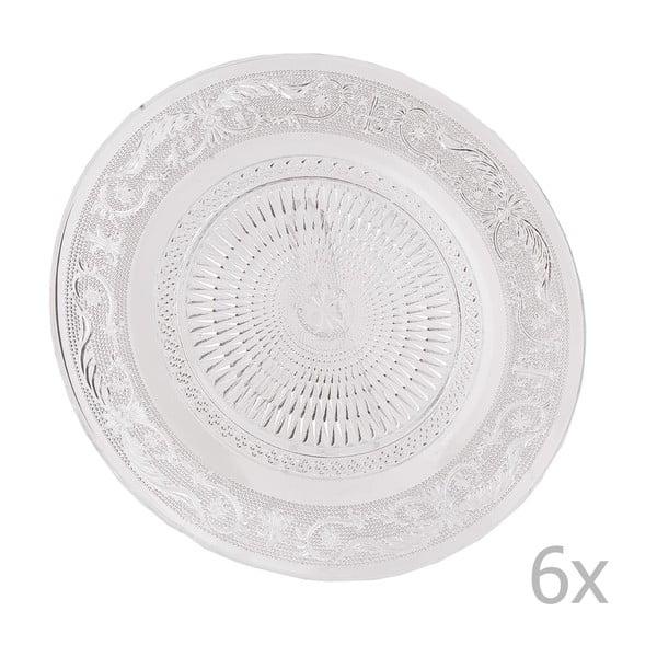 Sada 6 skleněných talířů Clayre, 25 cm