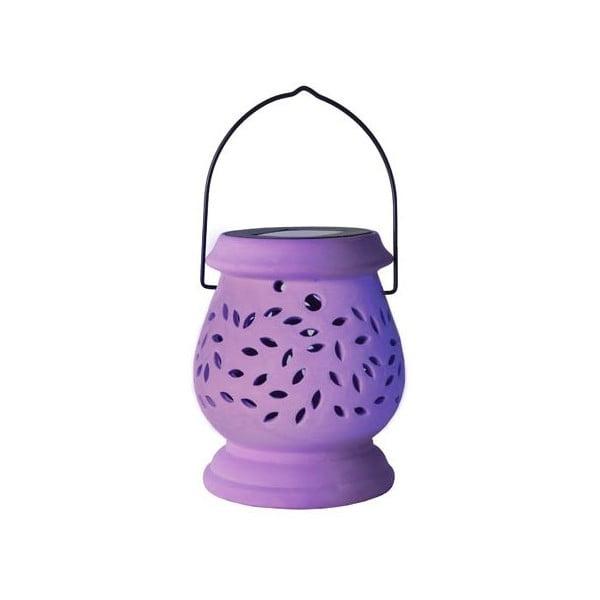 Felinar LED pentru exterior Best Season Clay, lila