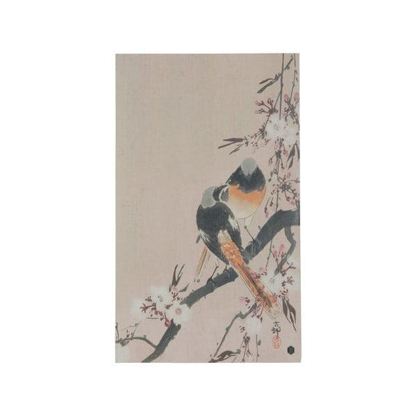 Plakát z ručně vyráběného papíru BePureHome Pinktails, 35x25cm