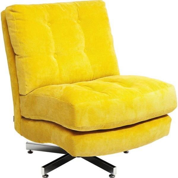 Žluté křeslo na kolečkách Kare Design Cinema